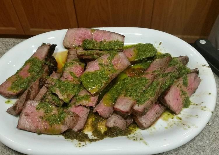 Steak Gaucho-Style with Chimichurri Sauce